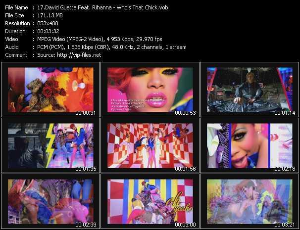 David Guetta Feat. Rihanna video - Who's That Chick?
