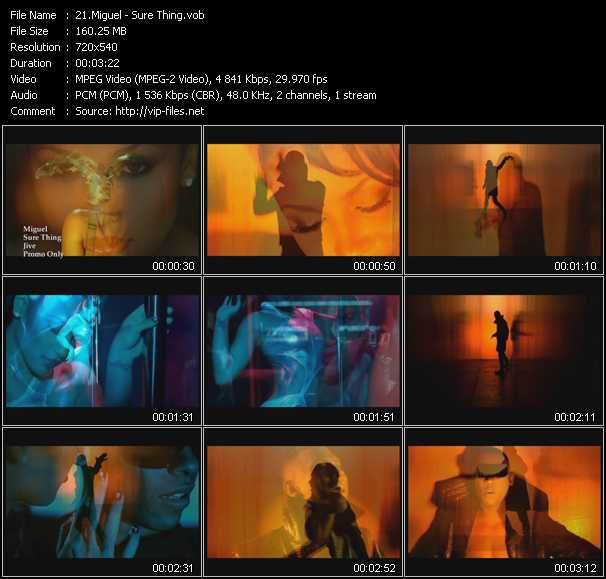 Miguel video - Sure Thing