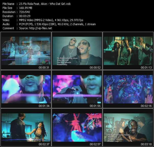 Flo Rida Feat. Akon video - Who Dat Girl