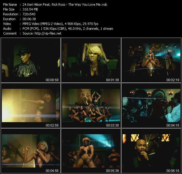 Keri Hilson Feat. Rick Ross video - The Way You Love Me