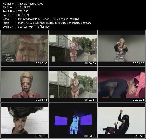 Kelis video - Scream