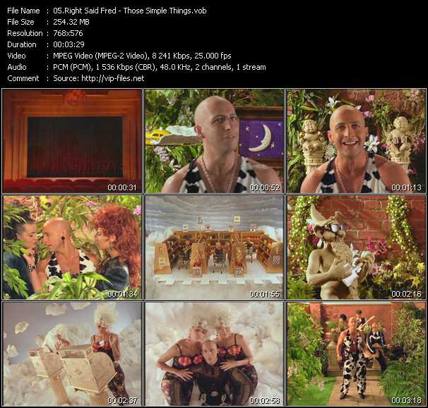 Right Said Fred video - Those Simple Things