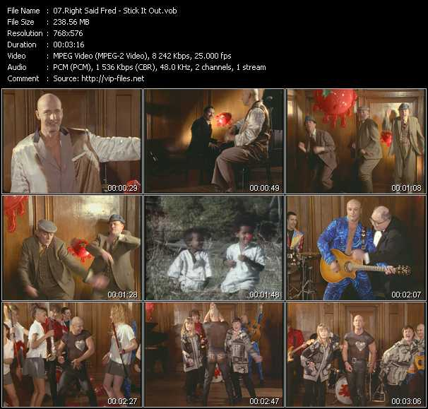 Right Said Fred video - Stick It Out