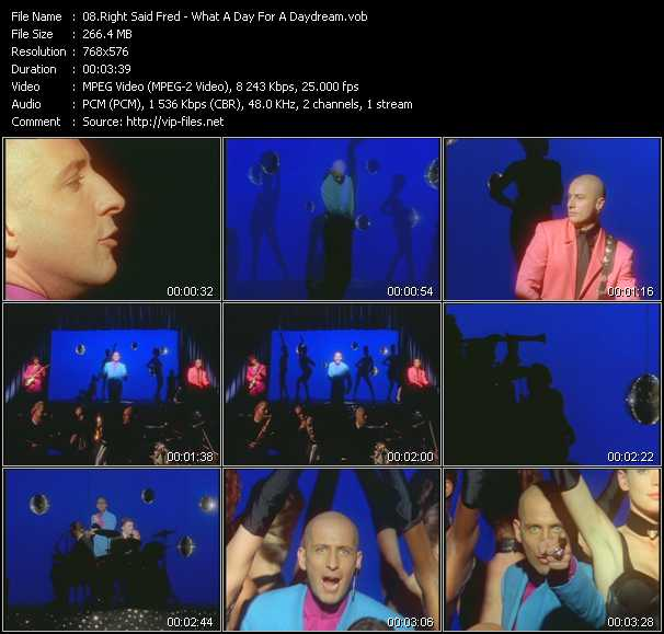 Right Said Fred video - What A Day For A Daydream