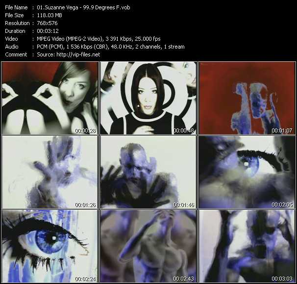 Suzanne Vega video - 99.9 F