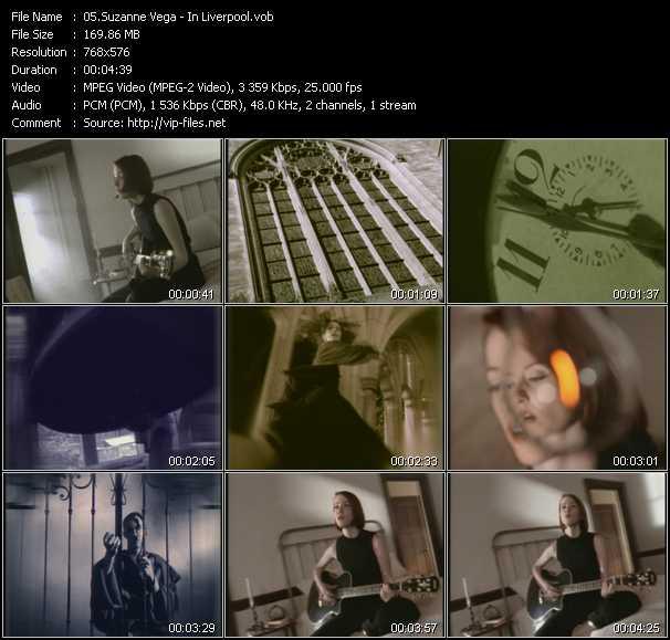 Suzanne Vega video - In Liverpool