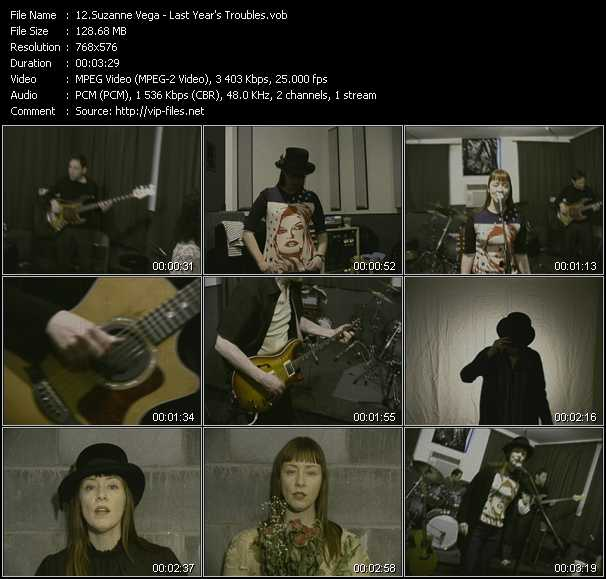 Suzanne Vega video - Last Year's Troubles