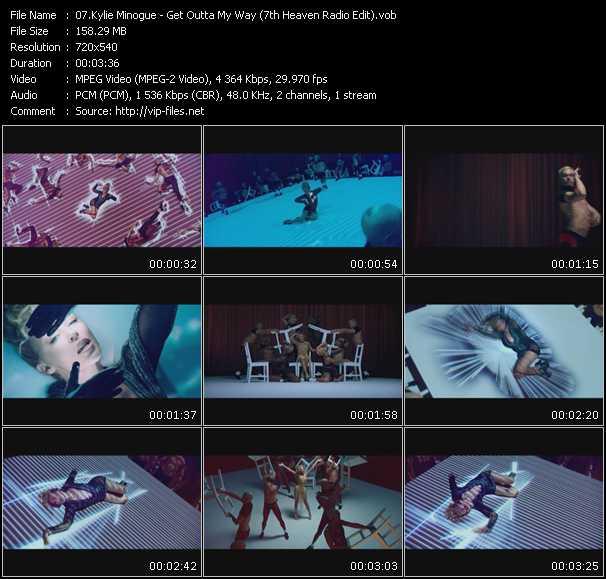 Kylie Minogue video - Get Outta My Way (7th Heaven Radio Edit) (Vj Tony Macaroni Video Mix)