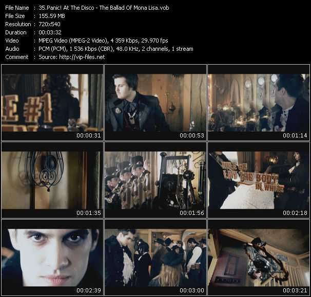 Panic! At The Disco video - The Ballad Of Mona Lisa
