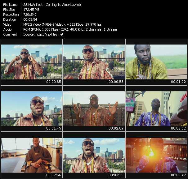 M.Anifest video - Coming To America