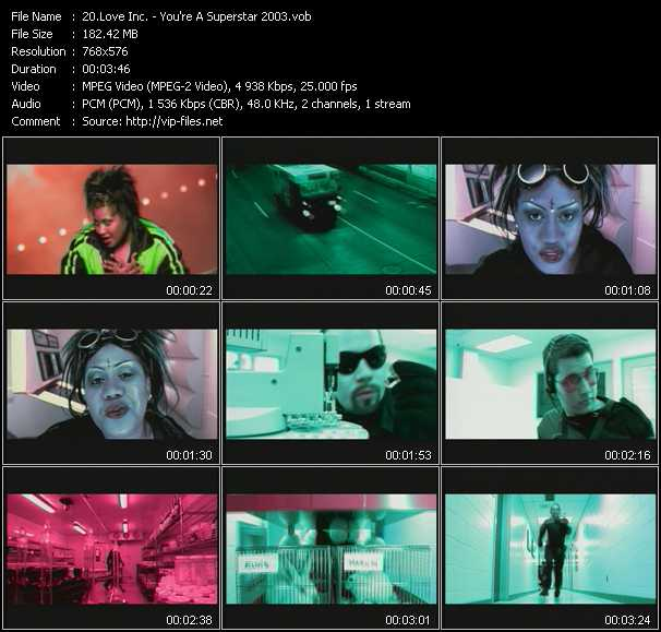 Love Inc. video - You're A Superstar 2003