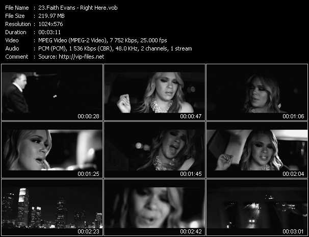 Faith Evans video - Right Here