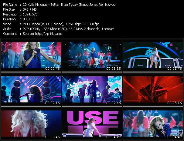 Kylie Minogue video - Better Than Today (Bimbo Jones Remix)