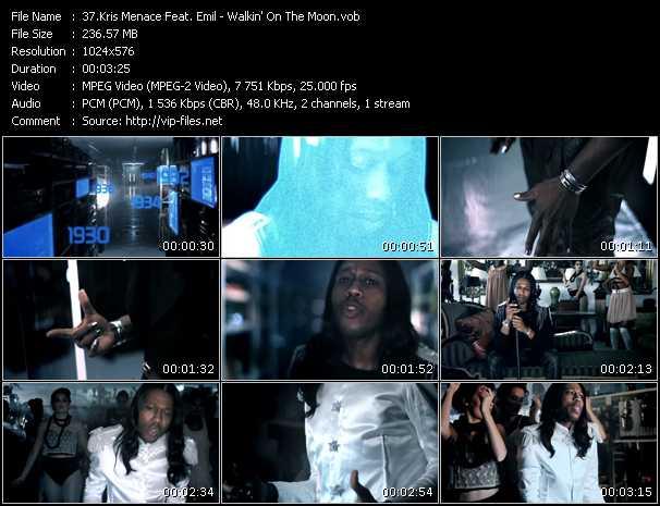 Kris Menace Feat. Emil video - Walkin' On The Moon
