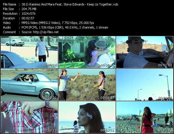 D.Ramirez And Mara Feat. Steve Edwards video - Keep Us Together