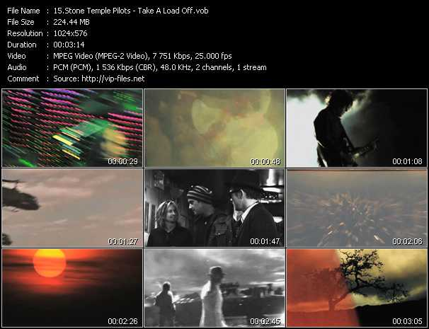 Stone Temple Pilots video - Take A Load Off