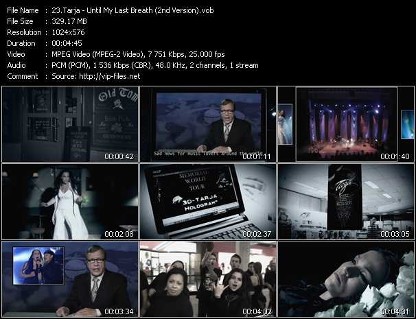 Tarja video - Until My Last Breath (2nd Version)