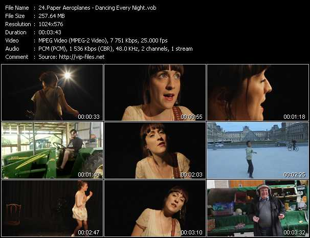 Paper Aeroplanes video - Dancing Every Night