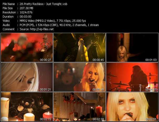 Pretty Reckless video - Just Tonight