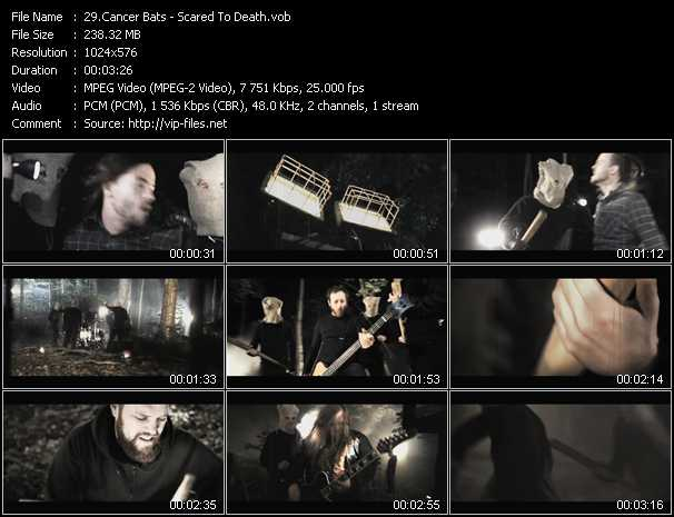 Cancer Bats video - Scared To Death