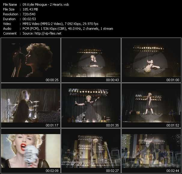 Kylie Minogue video - 2 Hearts