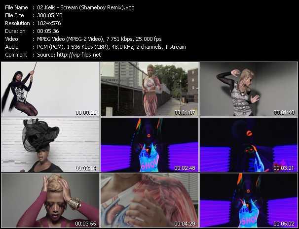 Kelis video - Scream (Shameboy Remix)