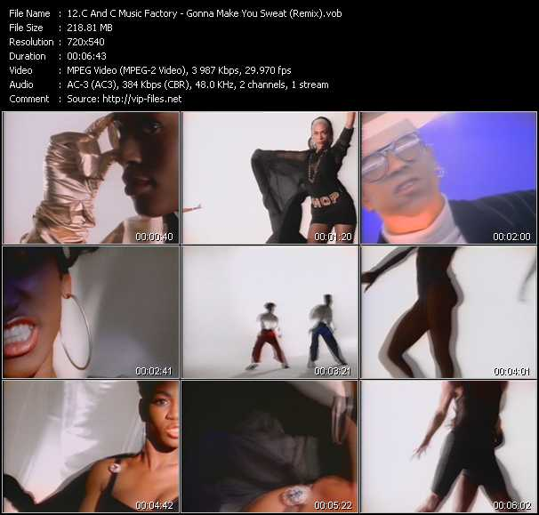 C And C Music Factory video - Gonna Make You Sweat (Remix)