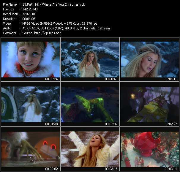 faith hill video where are you christmas - Faith Hill Where Are You Christmas