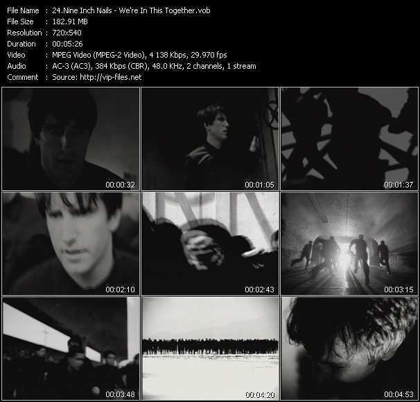 Nine Inch Nails video - We're In This Together