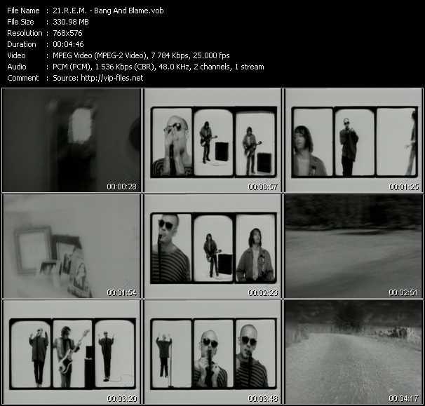 R.E.M. video - Bang And Blame