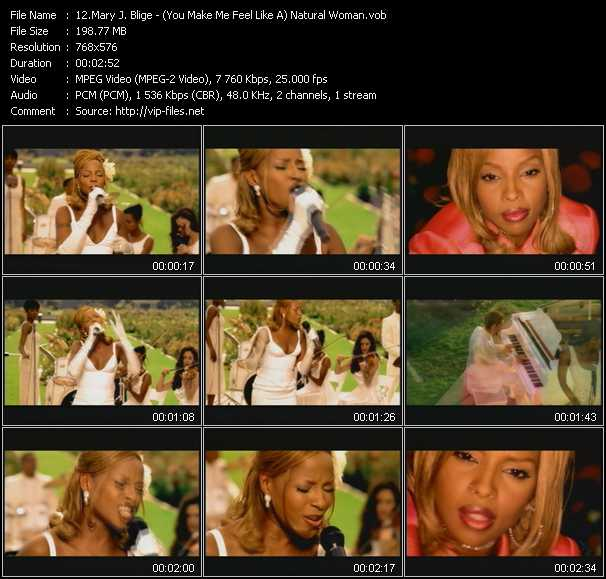 Mary J. Blige video - (You Make Me Feel Like A) Natural Woman
