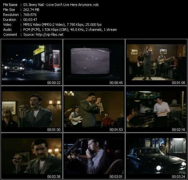 Jimmy Nail video - Love Don't Live Here Anymore