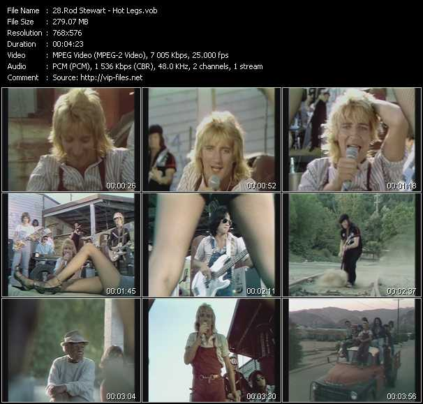 Rod Stewart video - Hot Legs