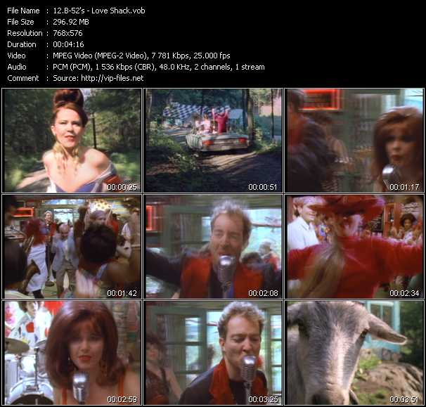 B-52's video - Love Shack