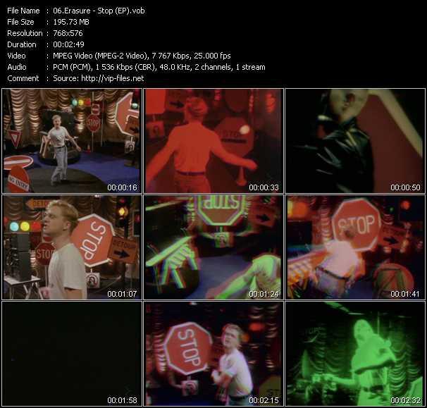 Erasure video - Stop! (EP)