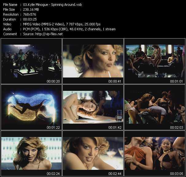 Kylie Minogue video - Spinning Around