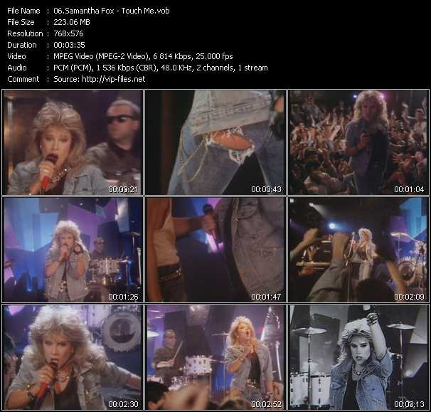 Samantha Fox video - Touch Me