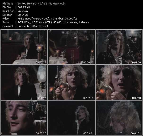 Rod Stewart video - You're In My Heart