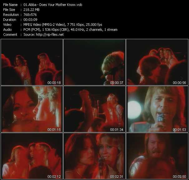 Abba video - Does Your Mother Know