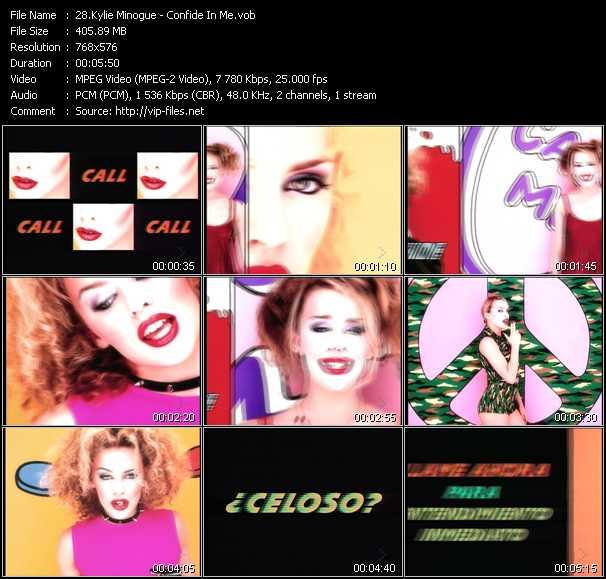 Kylie Minogue video - Confide In Me