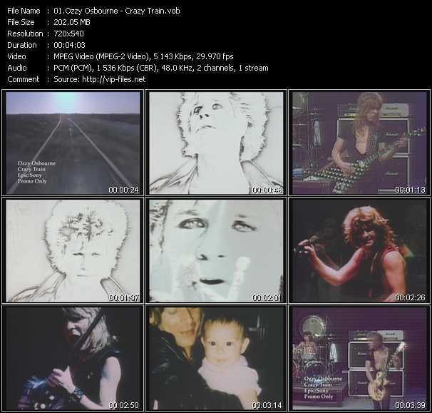 Ozzy Osbourne video - Crazy Train