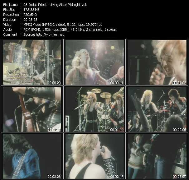 Judas Priest video - Living After Midnight