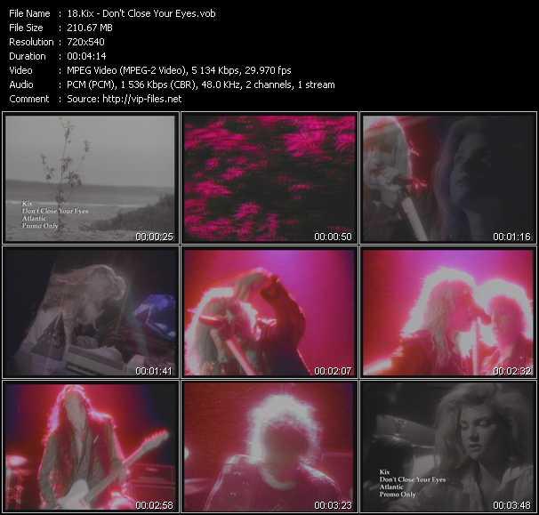 Kix video - Don't Close Your Eyes