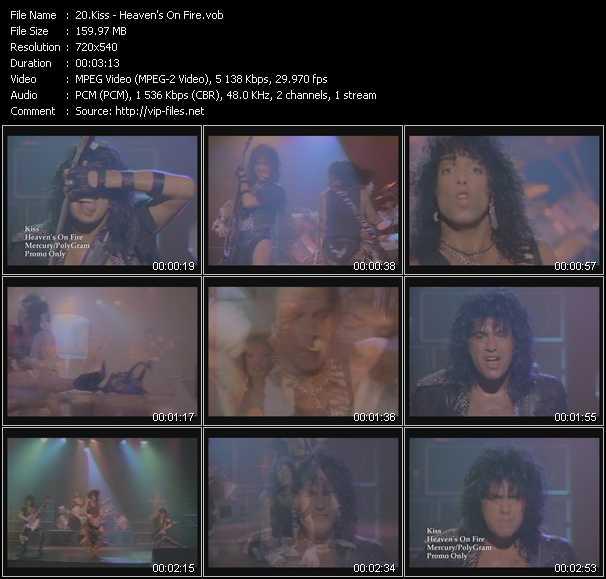Kiss video - Heaven's On Fire