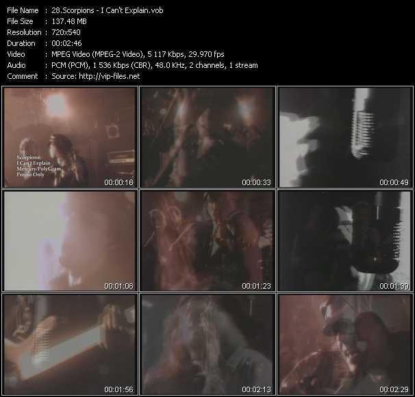 Scorpions video - I Can't Explain
