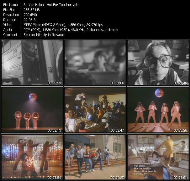 Van Halen video - Hot For Teacher