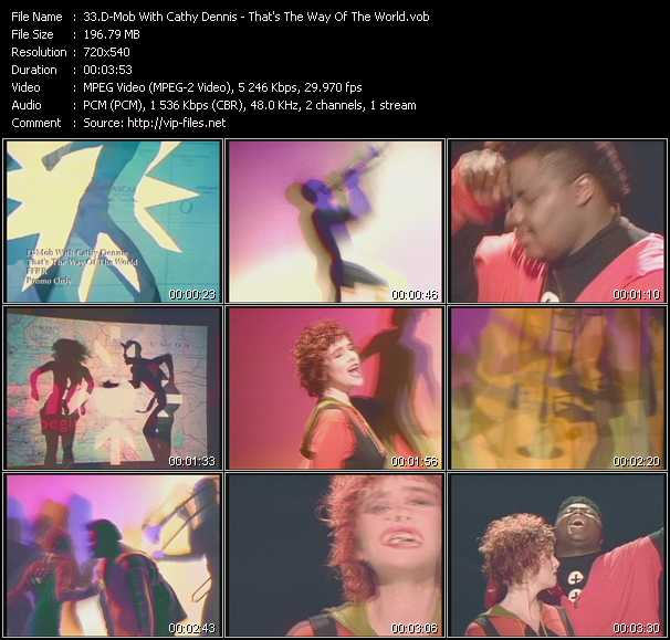 D-Mob With Cathy Dennis video - That's The Way Of The World