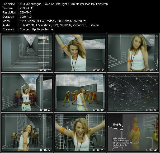 Kylie Minogue video - Love At First Sight (Twin Master Plan Mix Edit)