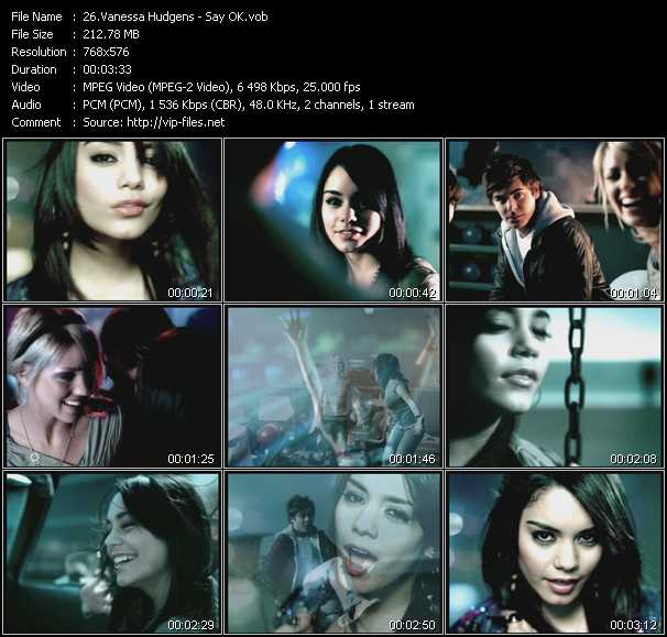 Vanessa Hudgens video - Say OK