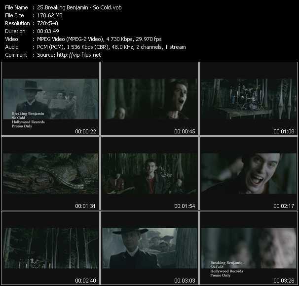 Breaking Benjamin video - So Cold